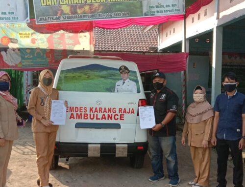 Pemerintah Desa Menerima Mobil Ambulance Desa